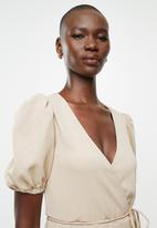 MANGO - Dress aina - beige