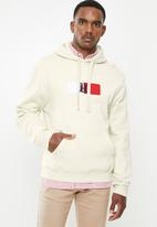 Tommy Hilfiger - Lh flag logo fleece hoodie - turtledove