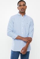 Tommy Hilfiger - Slim textured stripe shirt - regatta & bright white