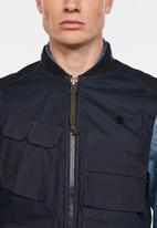 G-Star RAW - Utility vest - blue