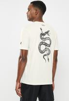 Under Armour - Project rock snake short sleeve tee - grey