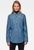 G-Star RAW - 3301 Relaxed shirt long sleeve - blue