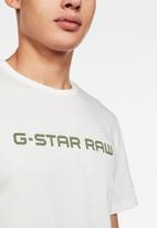 G-Star RAW - Graphic 24 straight short sleeve tee - white