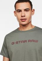 G-Star RAW - Graphic core straight T-shirt - khaki