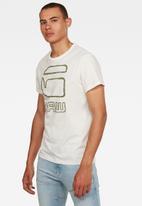 G-Star RAW - Graphic GRaw straight T-shirt - white