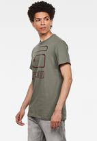 G-Star RAW - Graphic GRaw straight T-shirt - khaki
