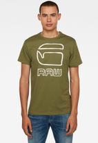 G-Star RAW - Graphic GRaw straight T-shirt - sage