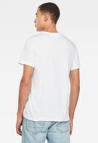 G-Star RAW - Graphic straight T-shirt - white