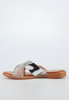 Miss Black - Seleri slide - silver