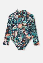 Cotton On - Lydia one piece - indian ink folk floral
