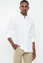 Tommy Hilfiger - Fil a fil shirt - white