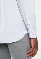 Tommy Hilfiger - Melange diamond dobby shirt - grey