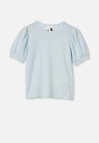 Cotton On - Jasmine puff sleeve top - frosty blue
