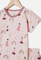 Cotton On - Harpa short sleeve pj set - crystal pink ballerinas