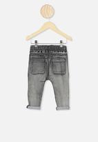 Cotton On - Jay moto jeans - black wash