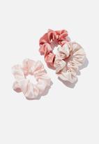 Rubi - 3 Pack scrunchies - pink