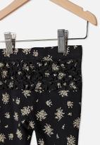 Cotton On - Quinn ruffle legging - black olivia white floral