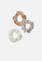 Rubi - 3 Pack scrunchies - neutral
