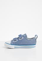 Converse - Chuck taylor all star 2v glitter textile - ice blue/cape blue/photon dust