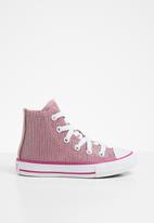 Converse - Chuck taylor all star glitter textile - light rouge/pink glaze/cactus flower