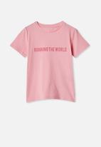 Cotton On - Penelope short sleeve tee - marshmallow running the world