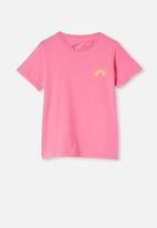 Cotton On - Penelope short sleeve tee - pink punch rainbow
