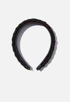 Rubi - Maddi plait headband - black