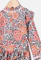 Cotton On - Lucy long sleeve swimsuit - floral ocelot