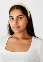 Rubi - Maddi plait headband - neutral