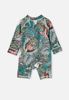 Cotton On - Cameron long sleeve swimsuit - tropical bird party