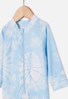 Cotton On - Cameron long sleeve swimsuit - sky haze tie dye