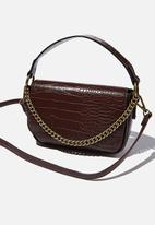 Rubi - Naomi cross body bag - chocolate