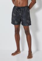 Superbalist - Baja swimshorts - black & brown palm