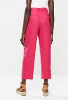 MANGO - Trousers Emma - bright pink