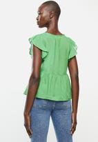 MANGO - Blouse soli - green