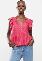 MANGO - Blouse soli - pink