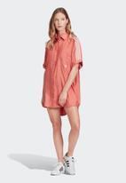 adidas Originals - Adicolour satin dress - coral