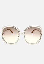 Chloe - Chloe square sunglasses - gold/transparent peach