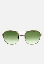 Chloe - Chloe round sunglasses - gold & green