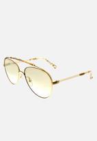 Chloe - Chloe aviator sunglasses - gold marble / beige