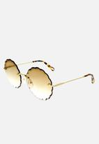 Chloe - Chloe round sunglasses - gold & gradient brown