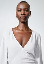 Superbalist - Wide sleeve wrap blouse - white