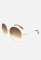 Chloe - Chloe round sunglasses - gold/gradient brown rose