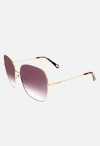 Chloe - Chloe square sunglasses - gold & gradient violet