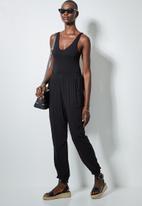 Superbalist - Easy pull on pants - black