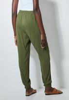 Superbalist - Easy pull on pants - dark olive
