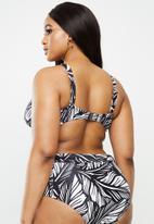 Vero Moda - Lucia swim bandeau curve - black & white