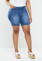 JUNAROSE - Five denim shorts - blue