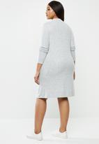 Carmakoma - India long sleeve dress - grey melange
