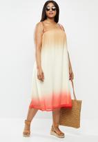 Vero Moda - Rikka sleeve below knee dress - coral